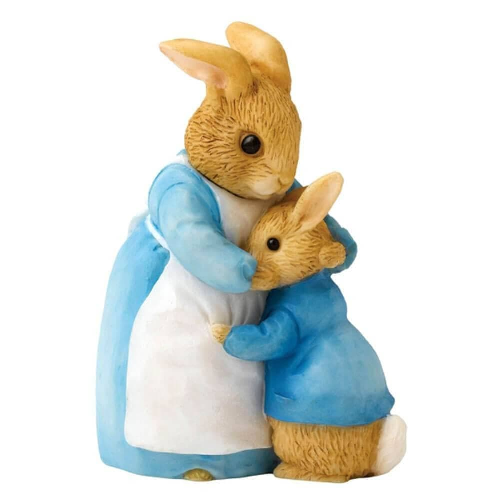 Beatrix Potter Mrs. Rabbit and Peter Figurine