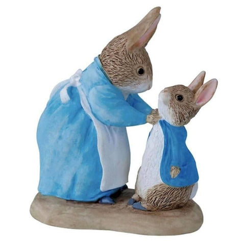 Beatrix Potter Mrs. Rabbit and Peter Mini Figurine