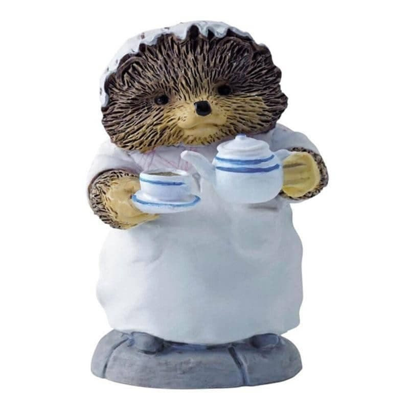Beatrix Potter Mrs. Tiggy-Winkle Pouring Tea Mini Figurine