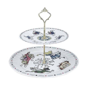 Cardew Alice in Wonderland 2 Tiered Cake Stand