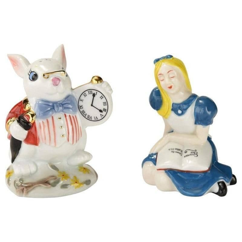 Cardew Alice in Wonderland Alice and White Rabbit Salt and Pepper Set