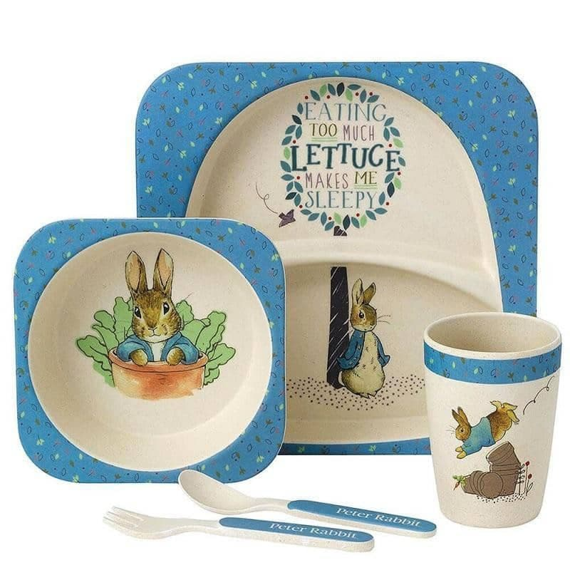 Children's Beatrix Potter Peter Rabbit 5-Piece Organic Dinner Set