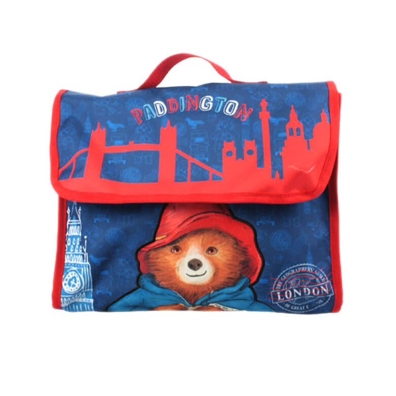 Front View of the Children's Paddington Bear Book Bag