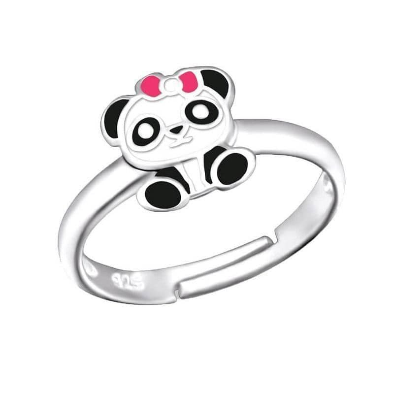Children's Sterling Silver Panda Ring
