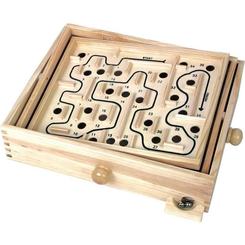 Classic Wooden Labyrinth