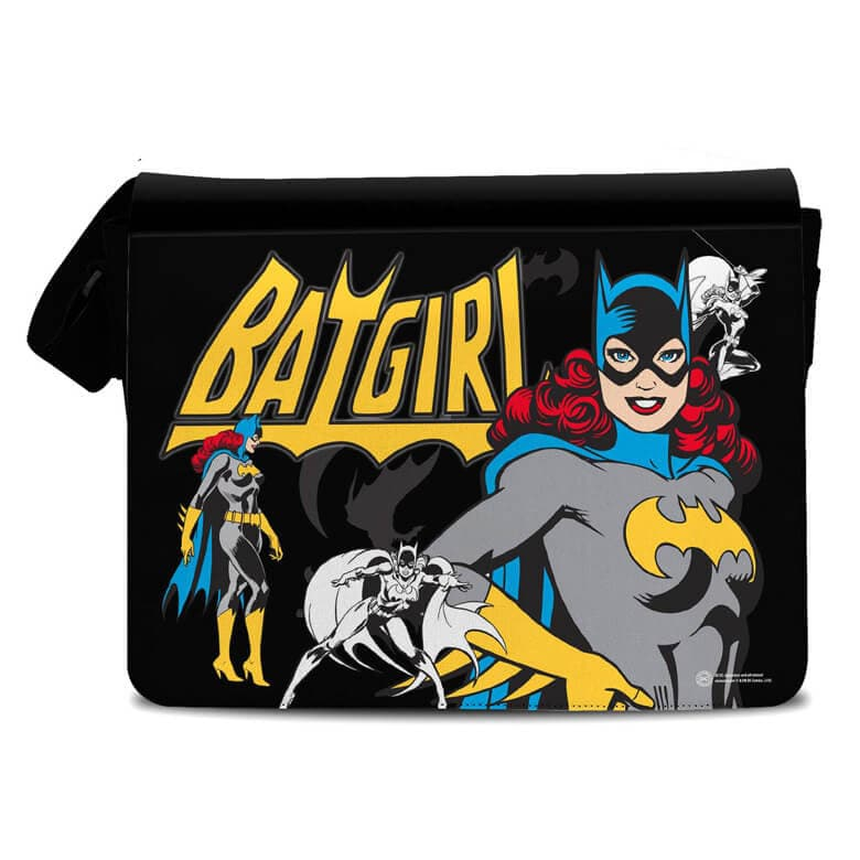 Front View of the DC Comics Retro Comic Book Style Batgirl Messenger Bag