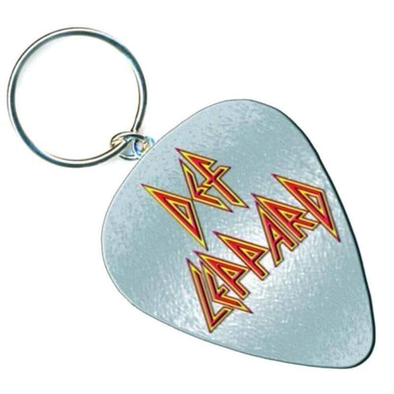 Def Leppard Logo Pick Collectable Metal Keyring