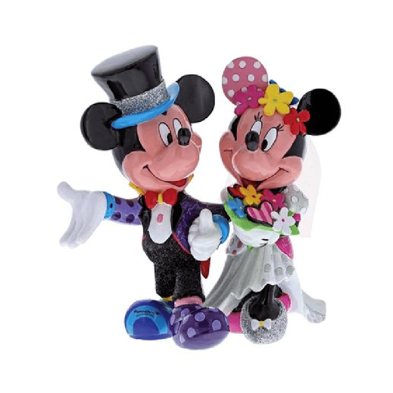 Disney Britto Mickey and Minnie Mouse Wedding Figurine