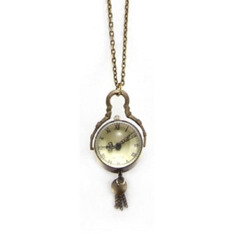 Domed Retro Watch Necklace