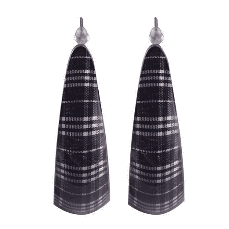 Acrylic Tartan Hoop Earrings