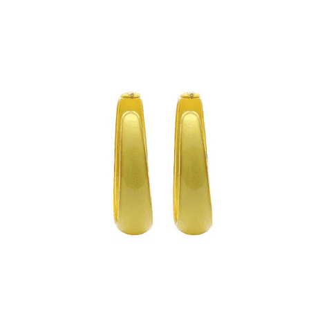 50mm Acrylic Retro Style Hoop Earrings