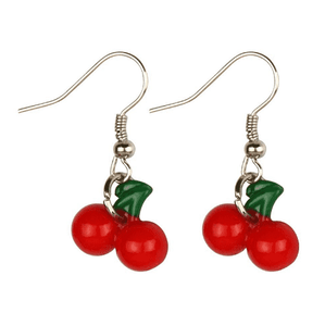 Resin Cherry Drop Earrings