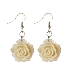 Pastel Vintage Style Rose Drop Earrings