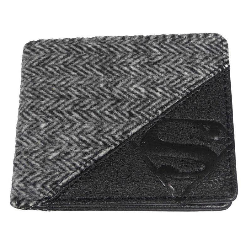 Embossed Superman Logo Bi-Fold Wallet