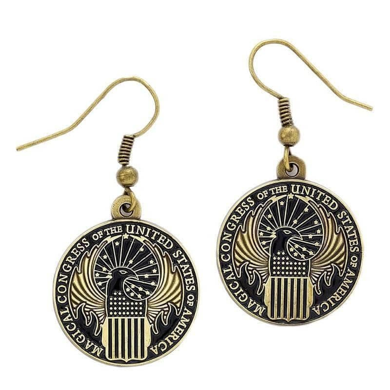 Fantastic Beasts and Where to Find Them Magical Congress Earrings