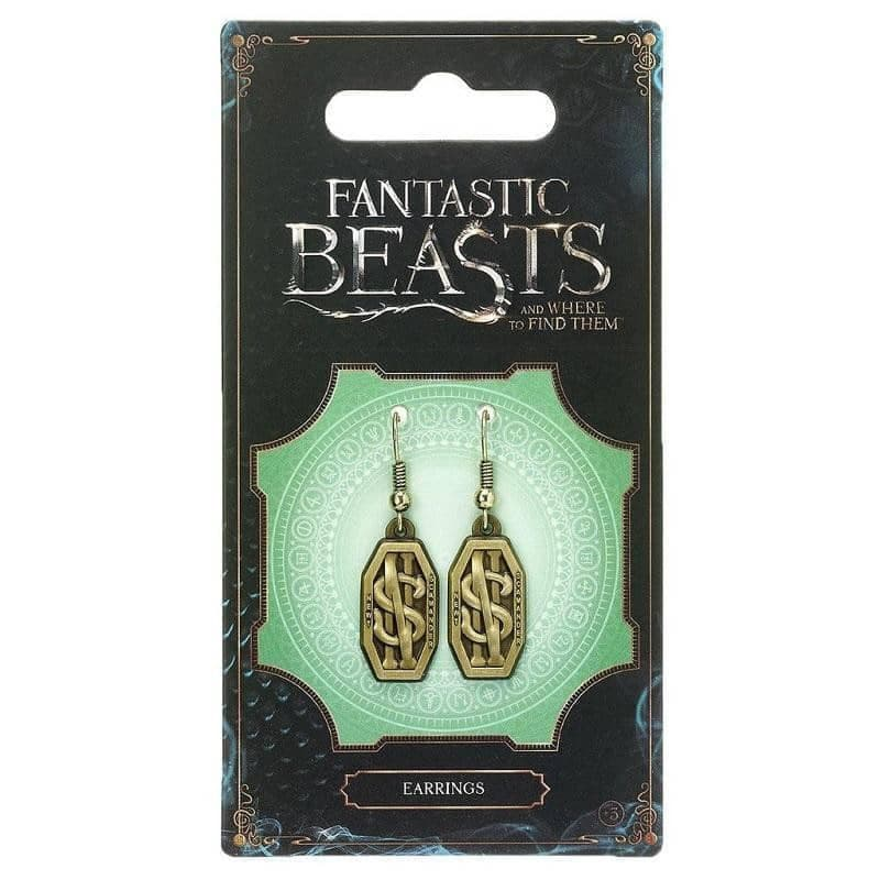 Fantastic Beasts and Where to Find Them Newt Scamander Logo Earrings
