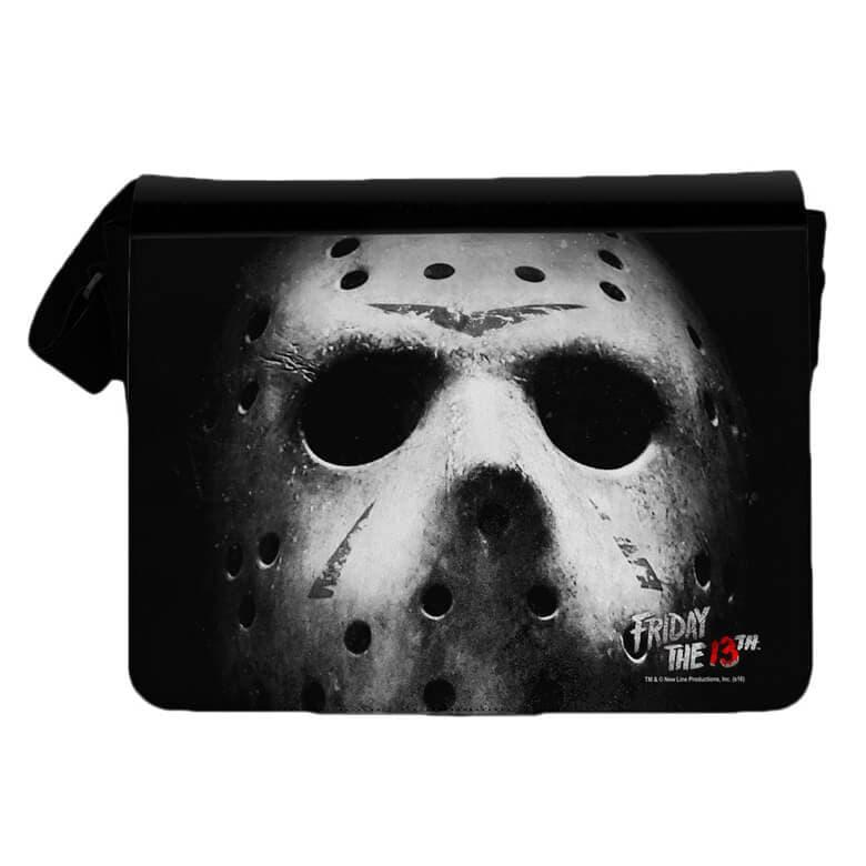 Front View of the Friday the 13th Jason Mask Messenger Bag