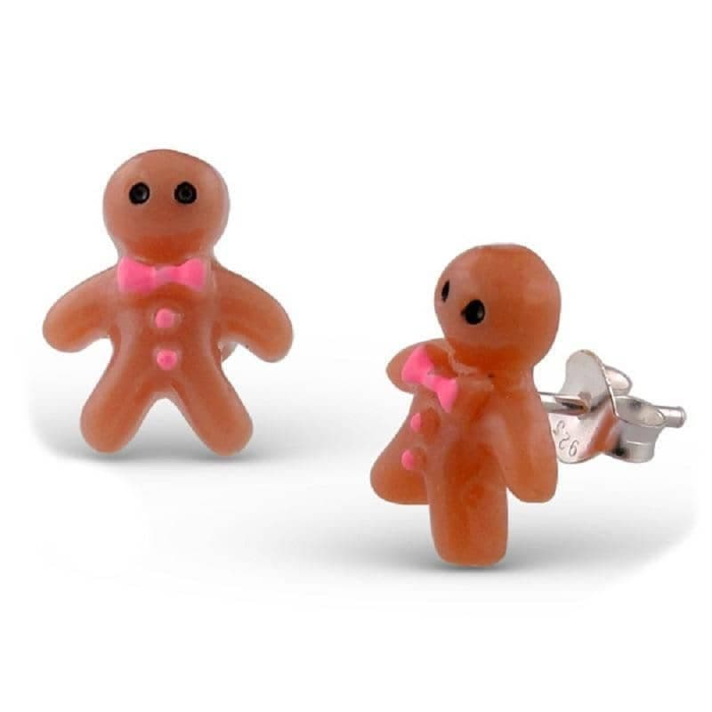 Gingerbread Man Stud Earrings