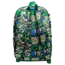 Load image into Gallery viewer, Back View of the Green Lantern Comic Strip Backpack