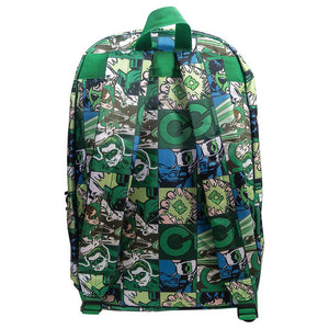 Back View of the Green Lantern Comic Strip Backpack