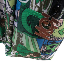 Load image into Gallery viewer, Zipper Tab Detailing of the Green Lantern Comic Strip Backpack