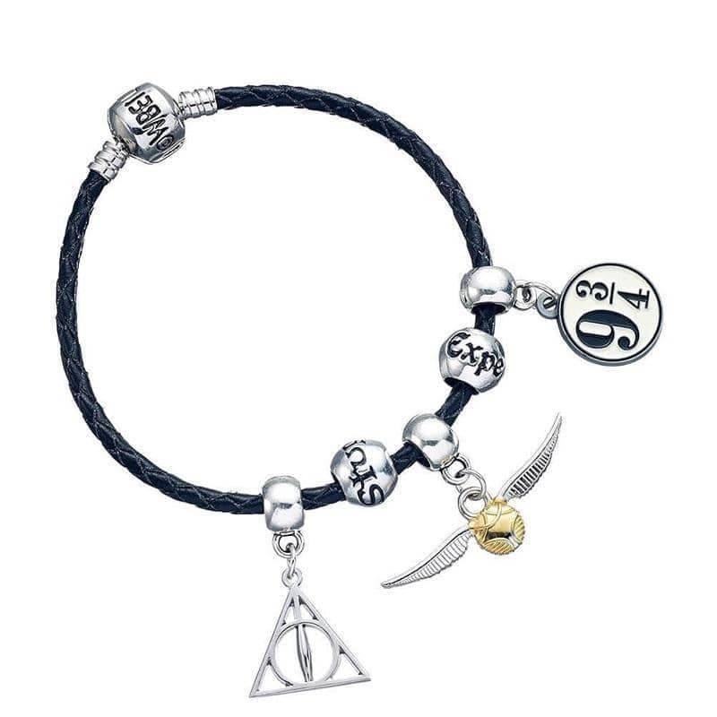 Harry Potter Black Charm Bracelet with Charms