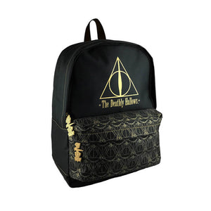Front Side View of the Harry Potter Deathly Hallows Backpack