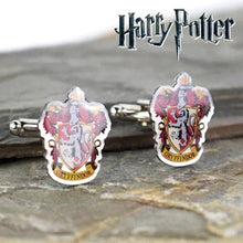 Load image into Gallery viewer, Harry Potter Gryffindor Crest Silver Plated Cufflinks