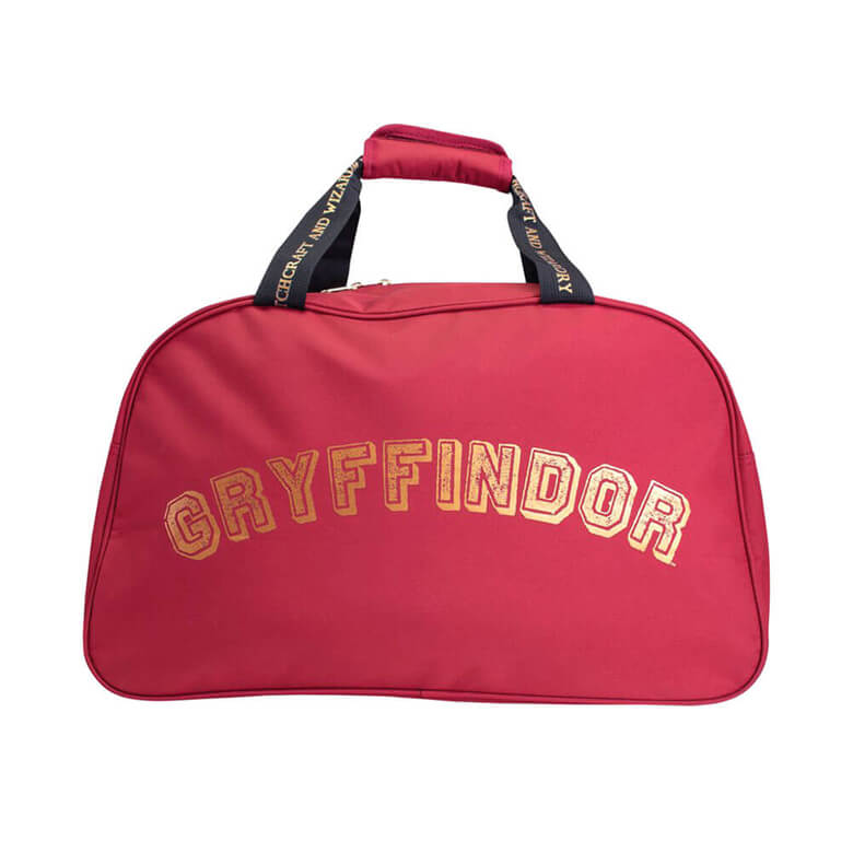 Back View of the Harry Potter Gryffindor Quidditch at Hogwarts Burgundy Duffle Bag