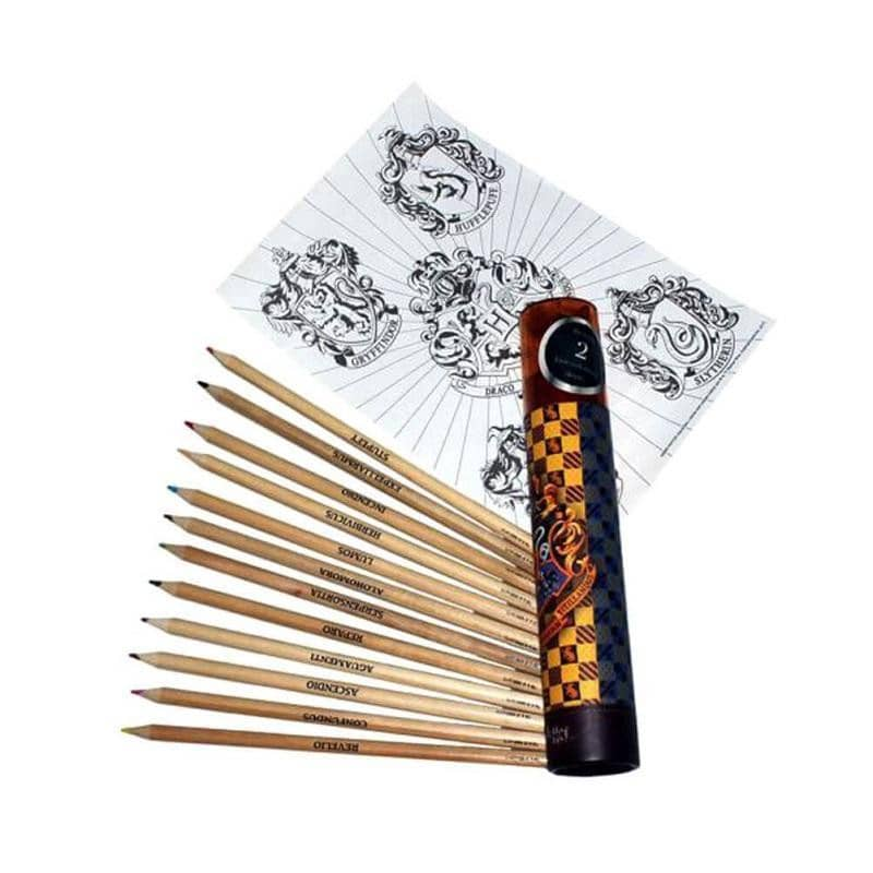 Harry Potter Hogwarts Colouring Pencil Tube Set