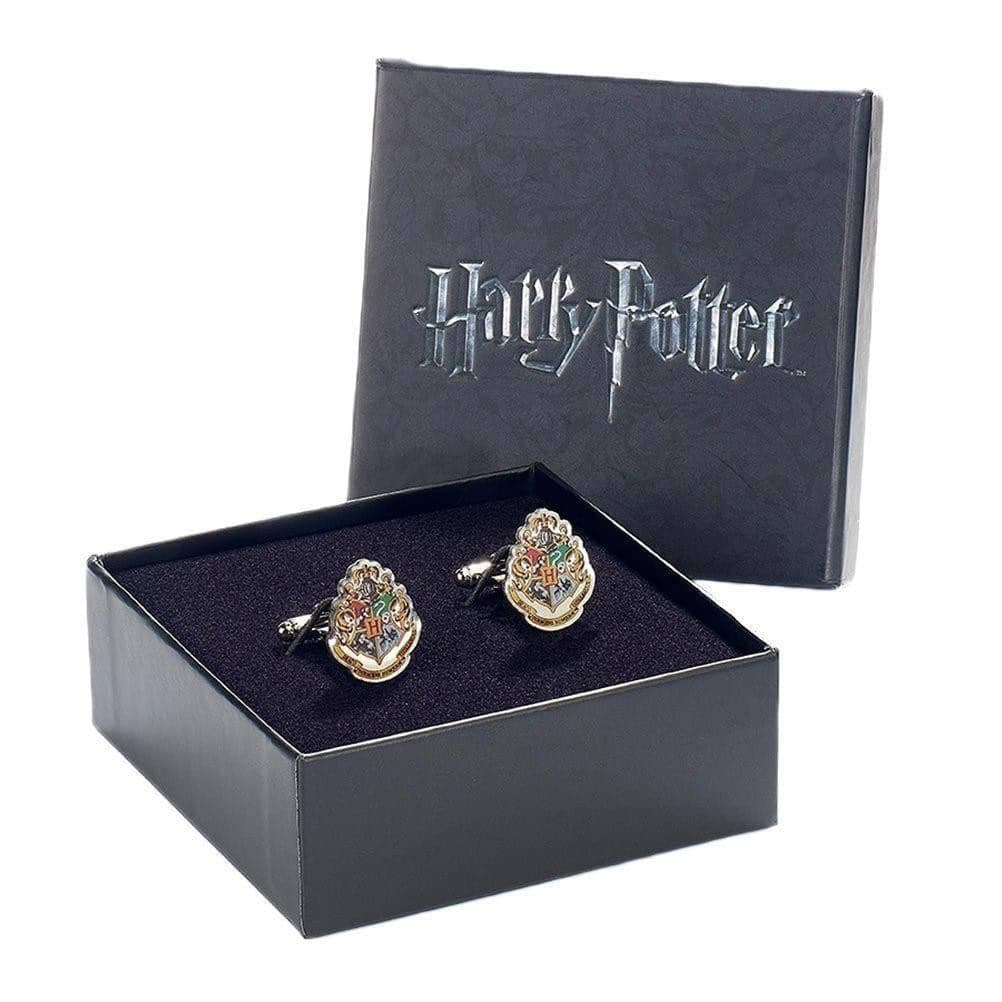 Harry Potter Hogwarts Crest Silver Plated Cufflinks