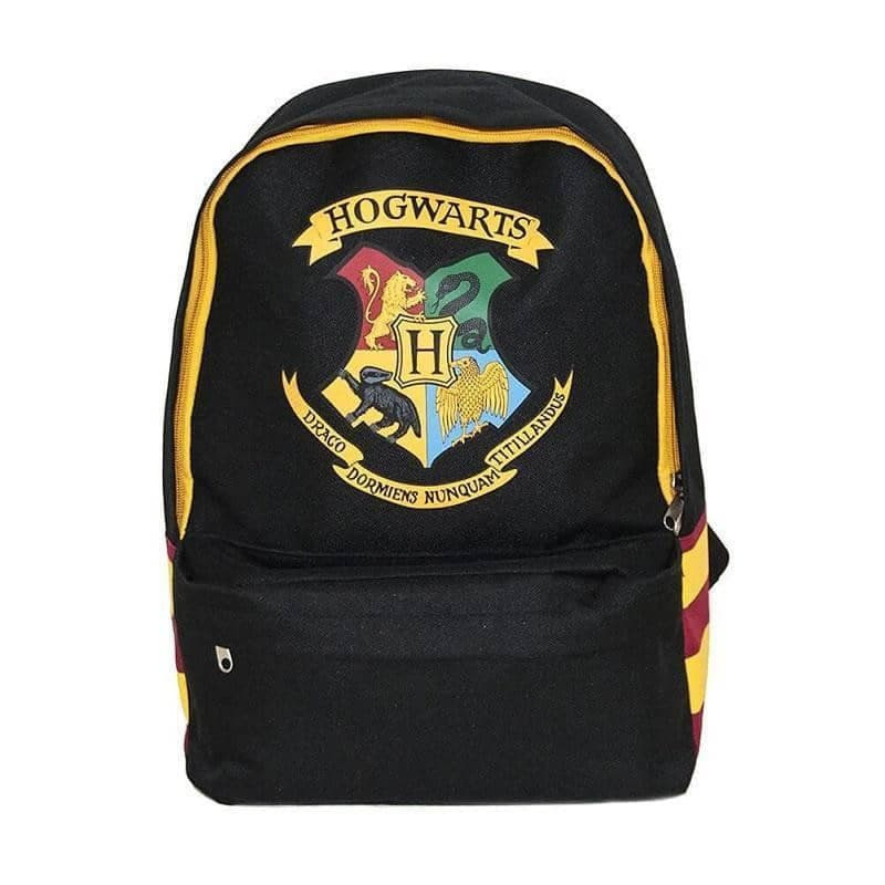 Harry Potter Hogwarts Logo Black Backpack