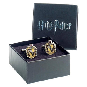 Harry Potter Hufflepuff Crest Silver Plated Cufflinks