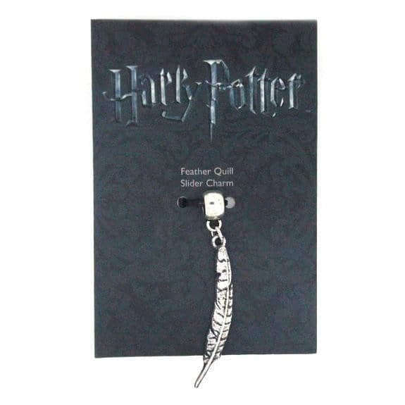 Harry Potter Silver Plated Feather Quill Slider Charm