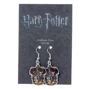 Harry Potter Silver Plated Gryffindor Crest Earrings