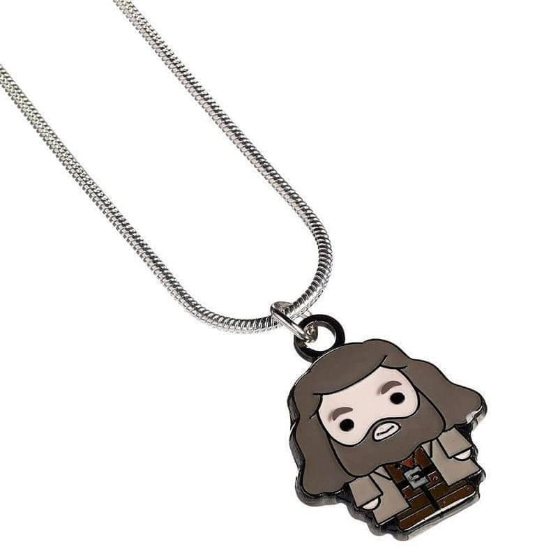 Harry Potter Silver Plated Hagrid Chibi Necklace