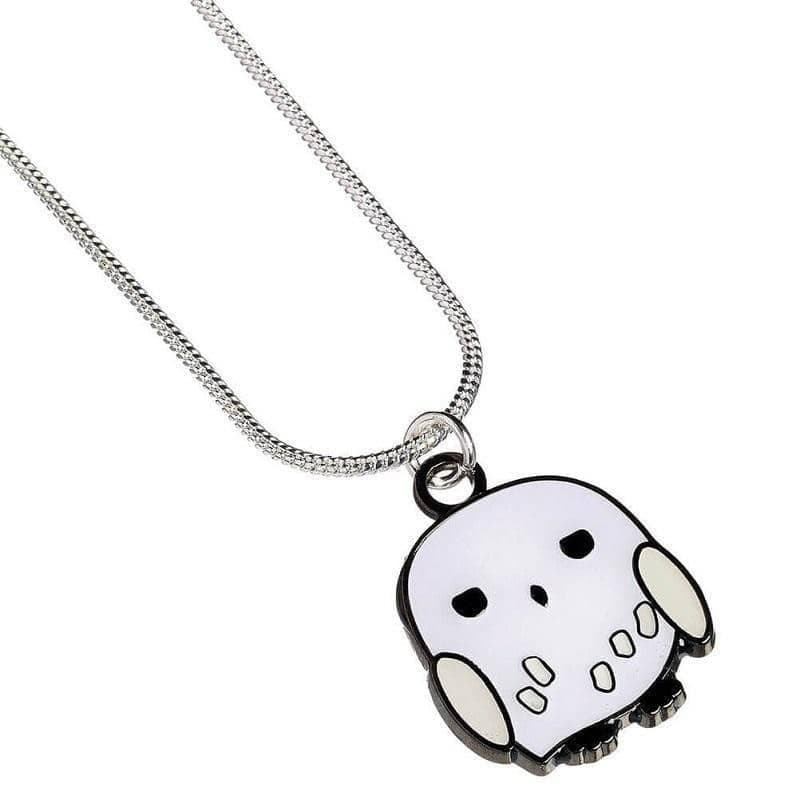 Harry Potter Silver Plated Hedwig Chibi Necklace