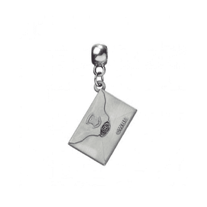 Harry Potter Silver Plated Hogwarts Acceptance Letter Charm Necklace.