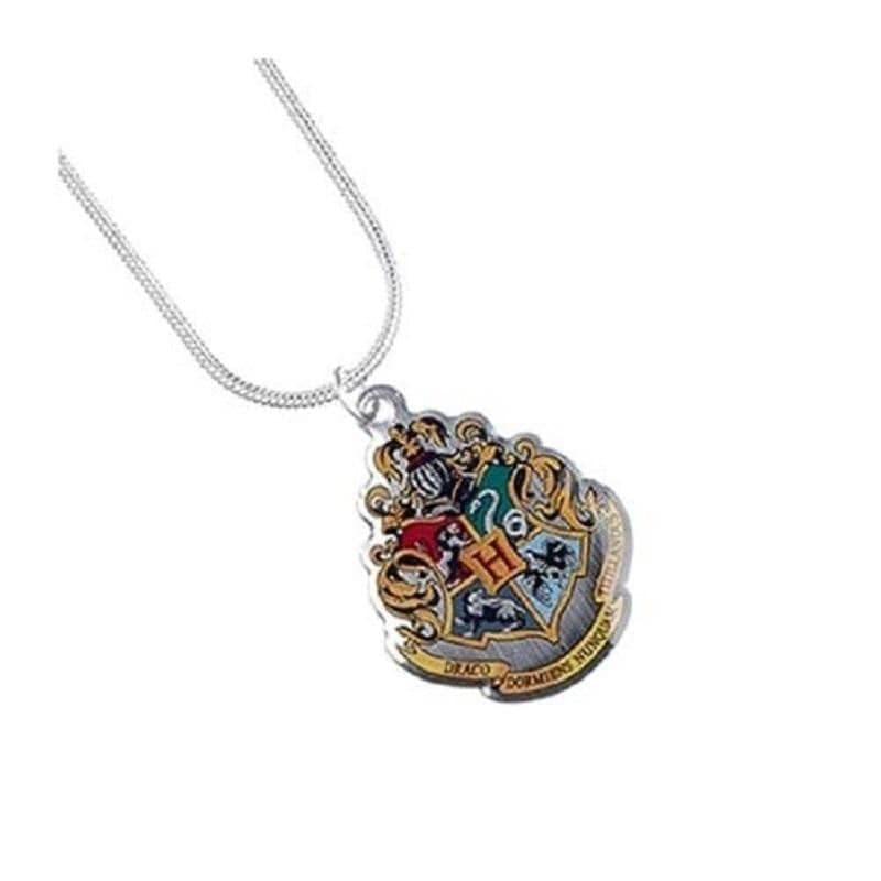 Harry Potter Silver Plated Hogwarts Crest Necklace