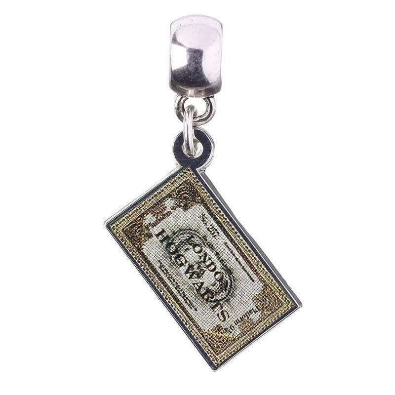 Harry Potter Silver Plated Hogwarts Express Ticket Slider Charm