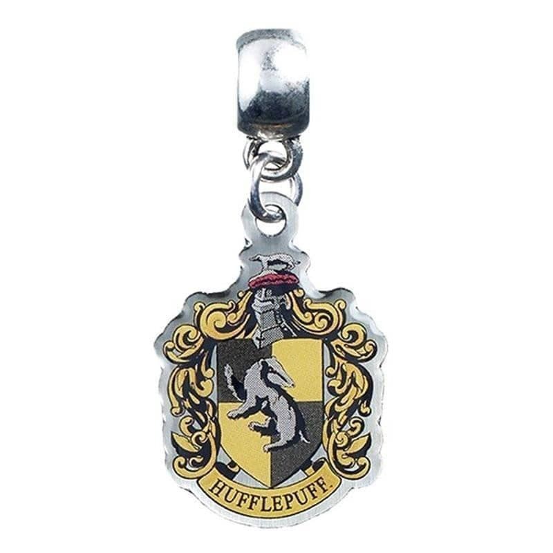 Harry Potter Silver Plated Hufflepuff Crest Slider Charm