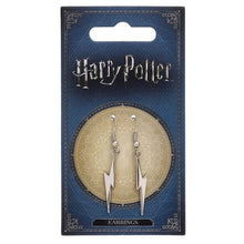 Load image into Gallery viewer, Harry Potter Silver Plated Lightning Bolt Earrings