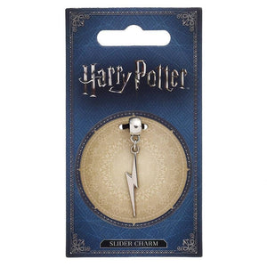 Harry Potter Silver Plated Lightning Bolt Slider Charm