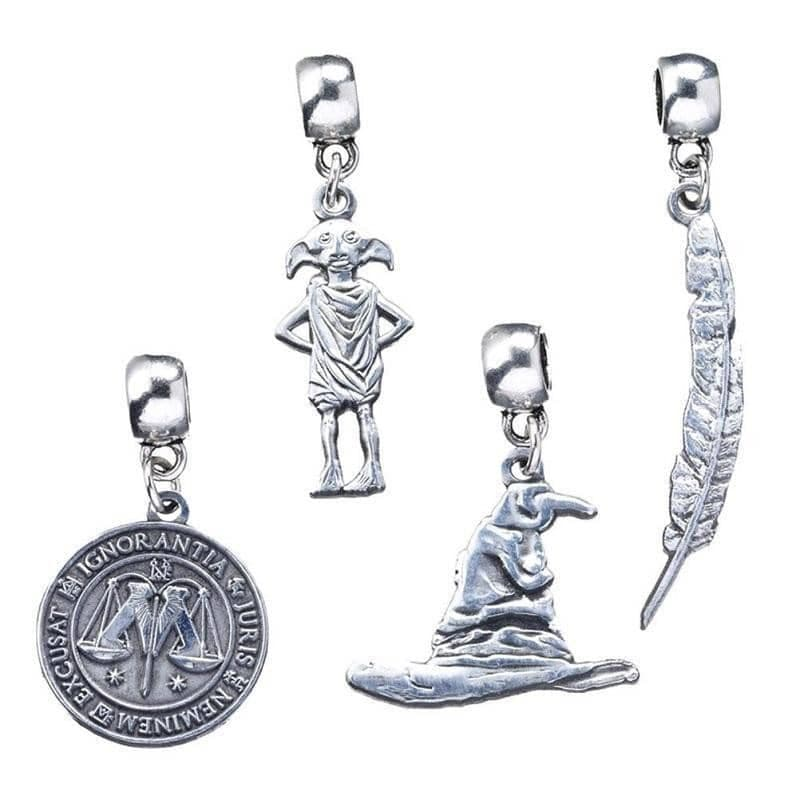 Harry Potter Silver Plated Multi Slider Charm Set