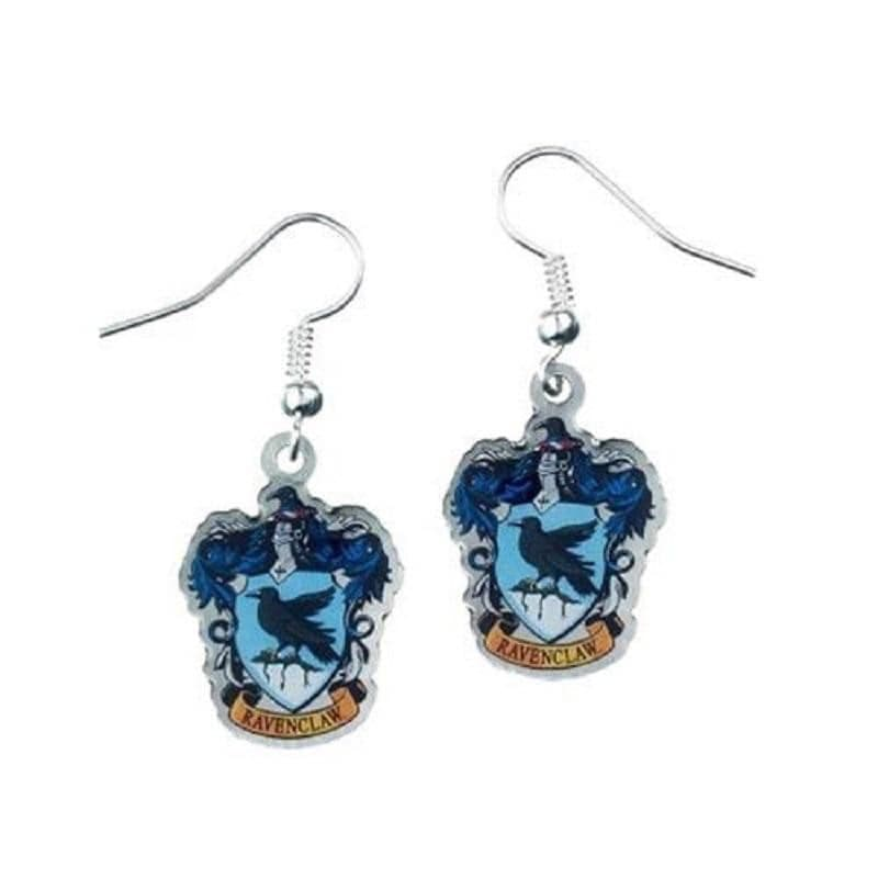 Harry Potter Silver Plated Ravenclaw Crest Drop Earrings