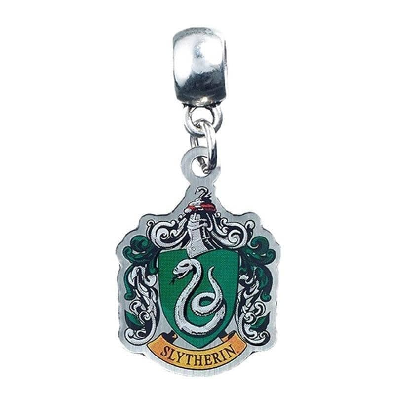 Harry Potter Silver Plated Slytherin Crest Slider Charm