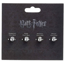 Load image into Gallery viewer, Harry Potter Silver Plated Spell Silder Charm Bead Set