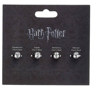 Harry Potter Silver Plated Spell Silder Charm Bead Set