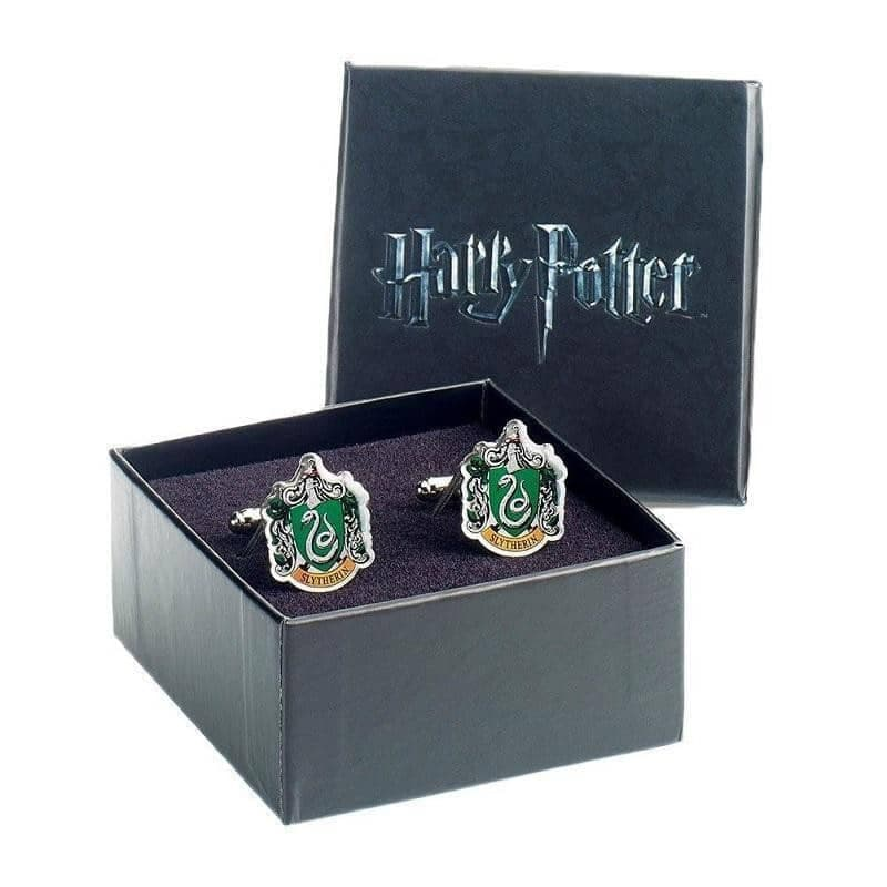 Harry Potter Slytherin Crest Silver Plated Cufflinks