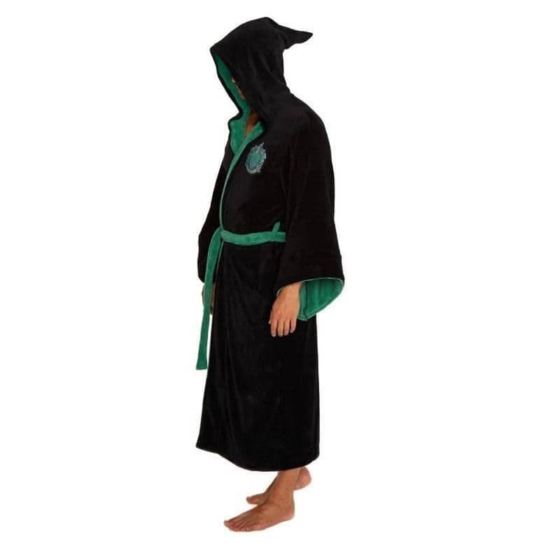 Harry Potter Slytherin Wizard Fleece Dressing Gown